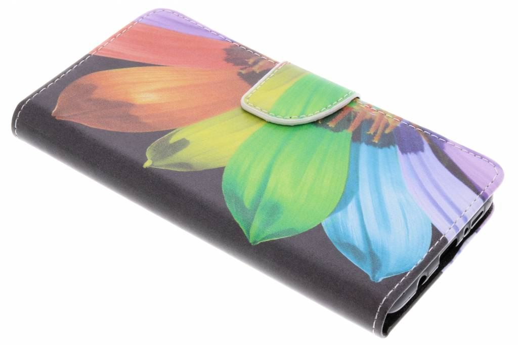 Regenboog design TPU booktype hoes voor de Samsung Galaxy S9 Plus