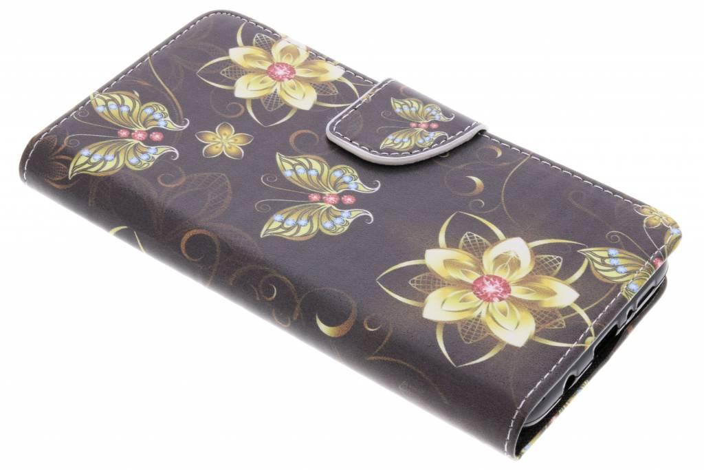 Vlinders met bloemen design TPU booktype hoes voor de Samsung Galaxy S9 Plus