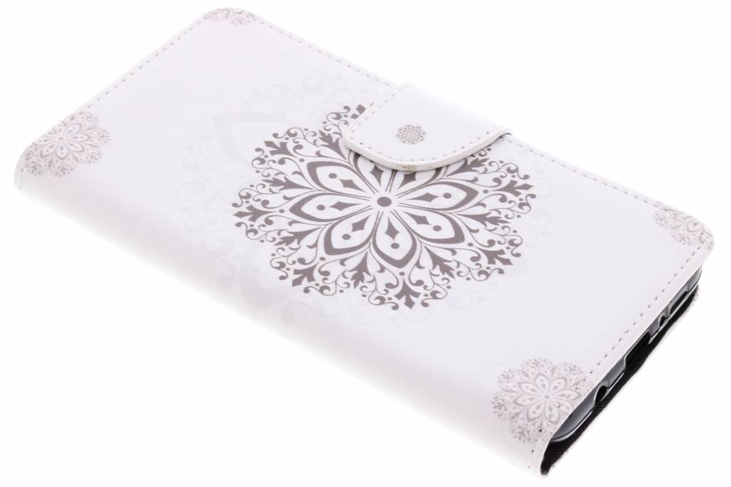 Bloem mandala design TPU booktype hoes voor de Samsung Galaxy S9 Plus