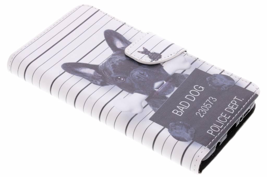 Bad dog design TPU booktype hoes voor de Samsung Galaxy S9 Plus
