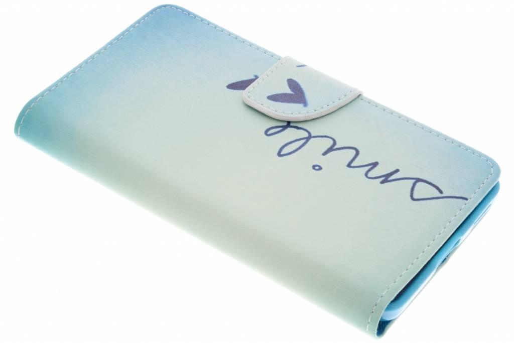 Smile design TPU booktype hoes voor de Nokia 6