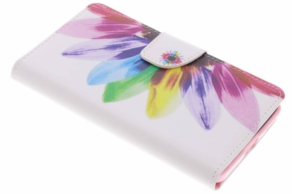 Regenboog design TPU booktype hoes voor de Nokia 6