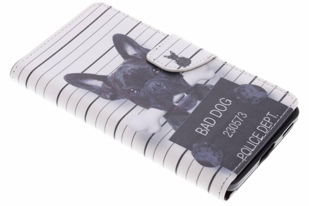 Bad dog design TPU booktype hoes voor de Nokia 6