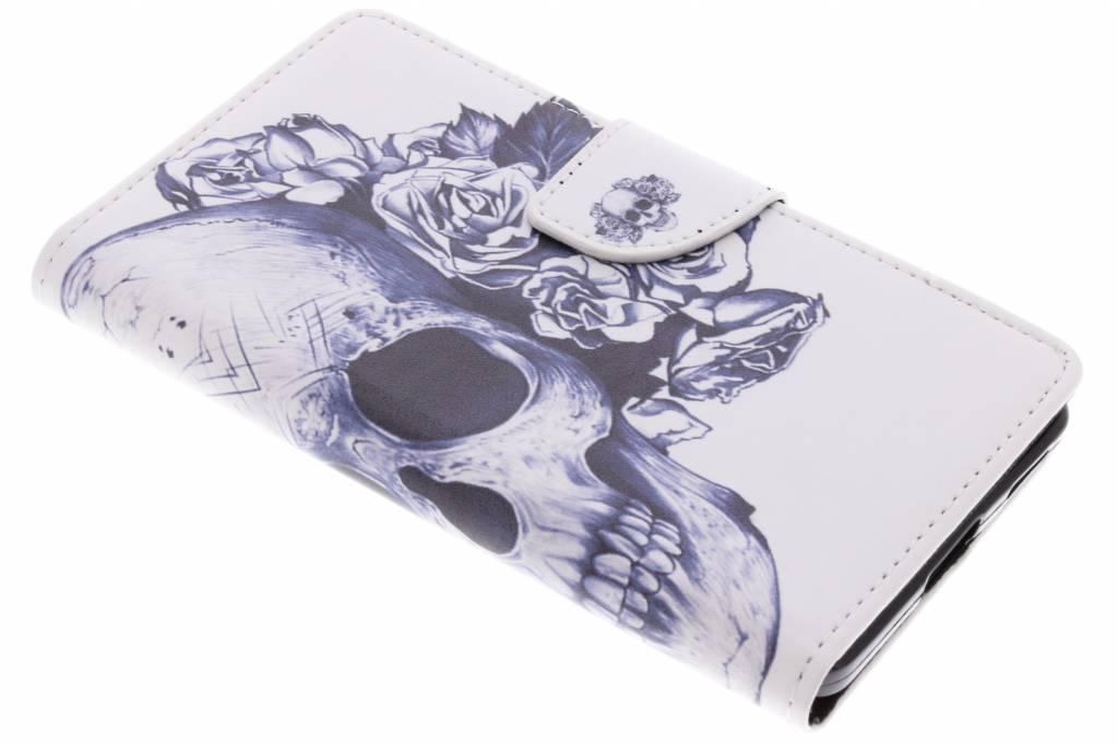 Doodshoofd design TPU booktype hoes voor de Nokia 6