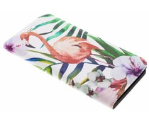 Flamingo Design Booklet Motorola Moto G5S Plus