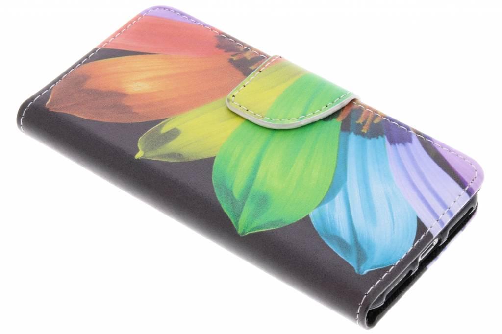 Regenboog zonnenbloem design TPU booktype hoes voor de iPhone 8 / 7
