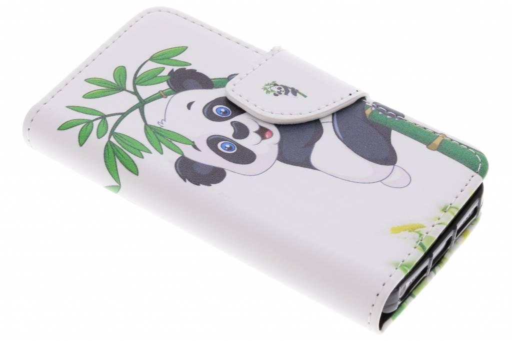 Panda in boom design TPU booktype hoes voor de iPhone 5 / 5s / SE