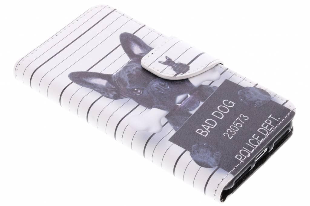 Bad dog design TPU booktype hoes voor de iPhone 8 / 7