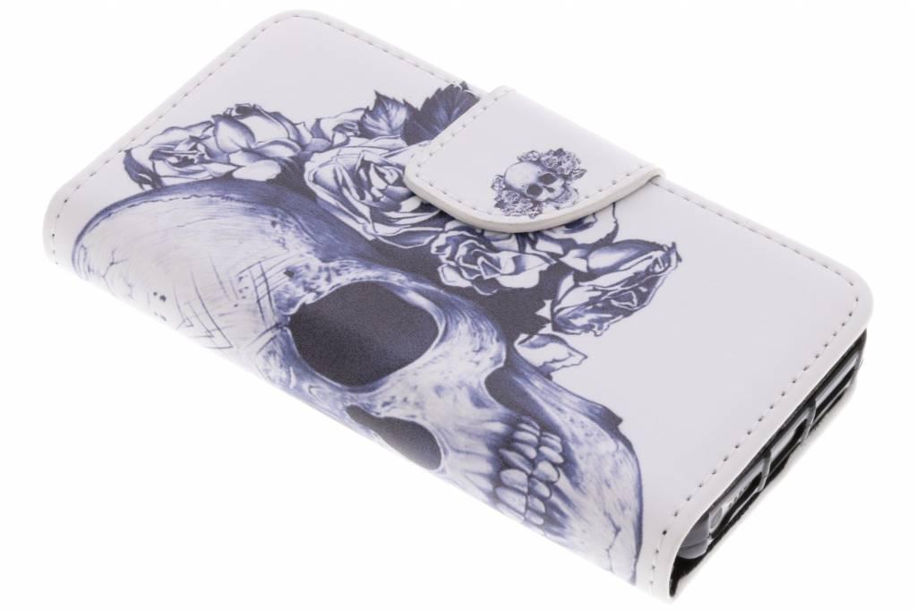 Doodshoofd design TPU booktype hoes voor de iPhone 5 / 5s / SE