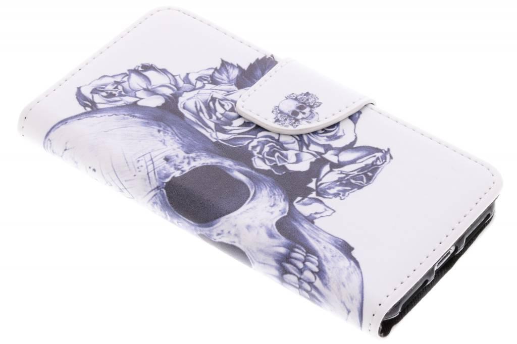 Doodshoofd design TPU booktype hoes voor de iPhone 8 / 7