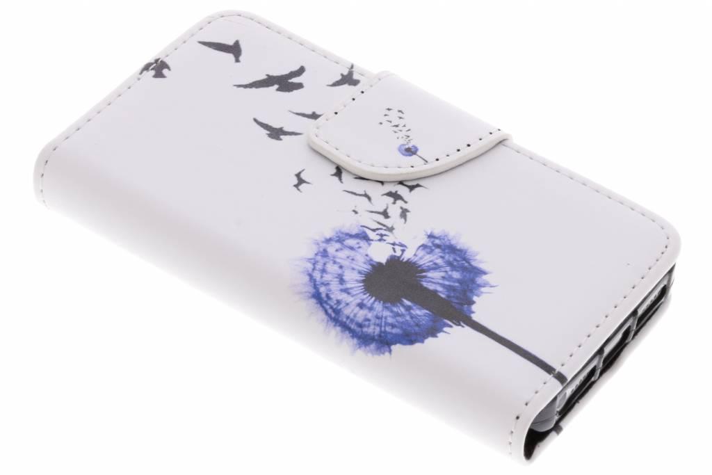 Paardenbloem design TPU booktype hoes voor de iPhone 5 / 5s / SE