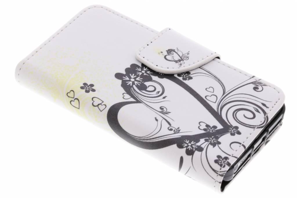 Hartje design TPU booktype hoes voor de iPhone 5 / 5s / SE