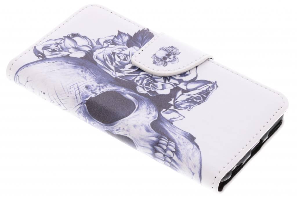 Doodshoofd design TPU booktype hoes voor de iPhone 6 / 6s