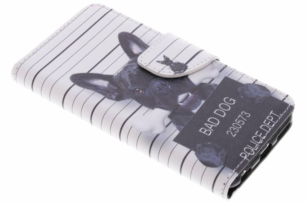 Bad dog design TPU booktype hoes voor de iPhone 6 / 6s