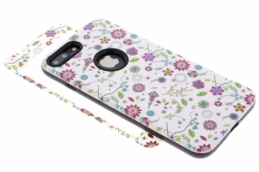 360° Gekleurde bloemen design hardcase voor de iPhone 8 Plus / 7 Plus