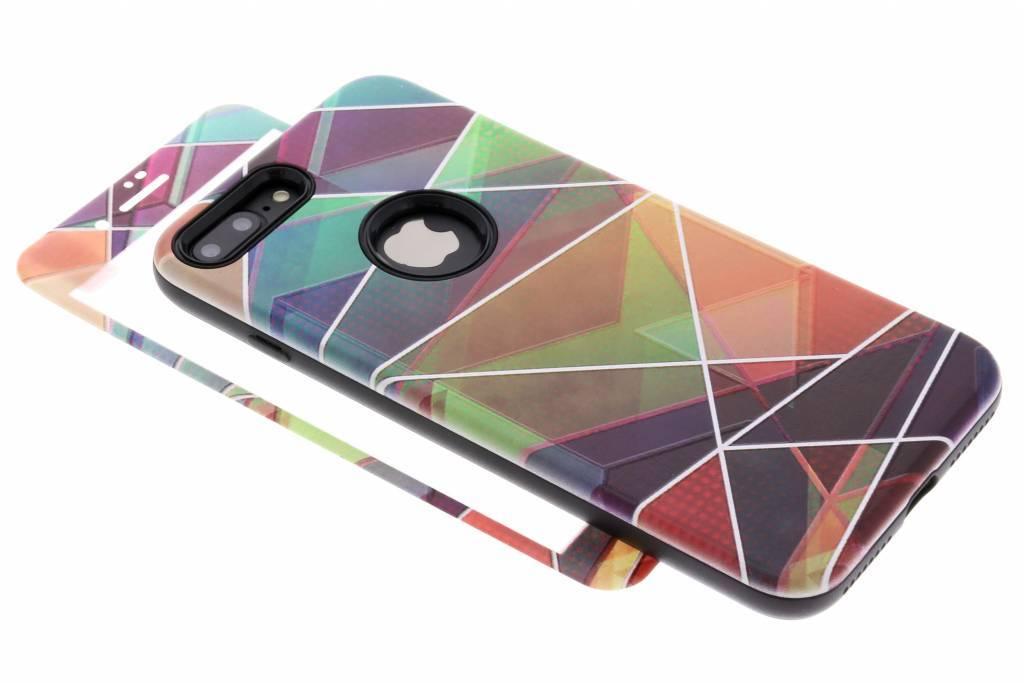 360° Kleuren design hardcase voor de iPhone 8 Plus / 7 Plus