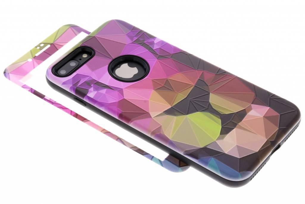 360° Gekleurde tijger design hardcase voor de iPhone 8 Plus / 7 Plus