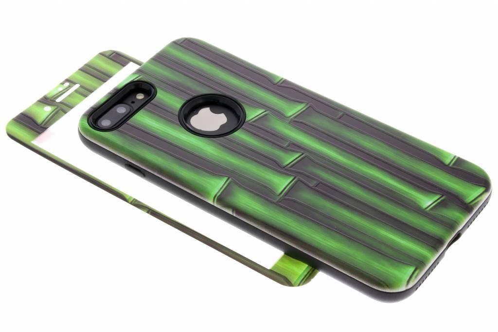 360° Bamboo design hardcase voor de iPhone 8 Plus / 7 Plus