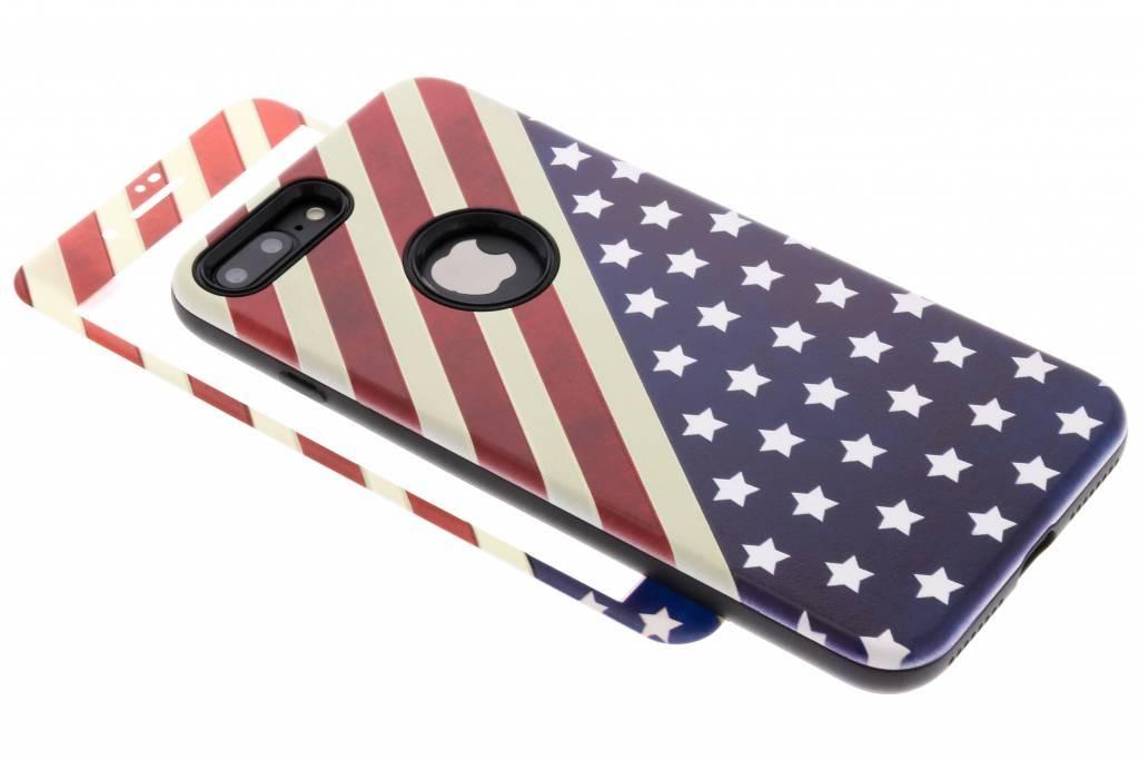 360° Amerikaanse vlag design hardcase voor de iPhone 8 Plus / 7 Plus