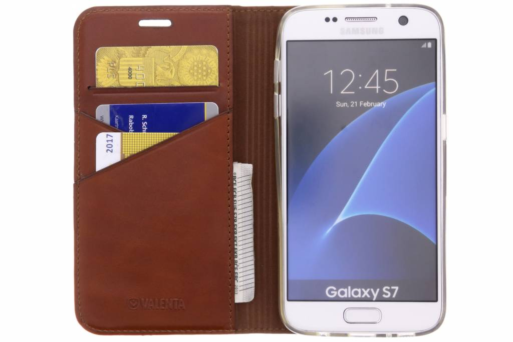 Prime Livret Marron Pour Samsung Galaxy S7 4ZUYgfo