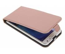 Selencia Rosé Goud Luxe lederen Flipcase Samsung Galaxy J7