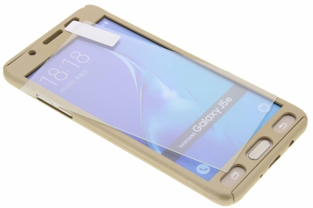 Gouden 360° effen protect case voor de Samsung Galaxy J5 (2016)