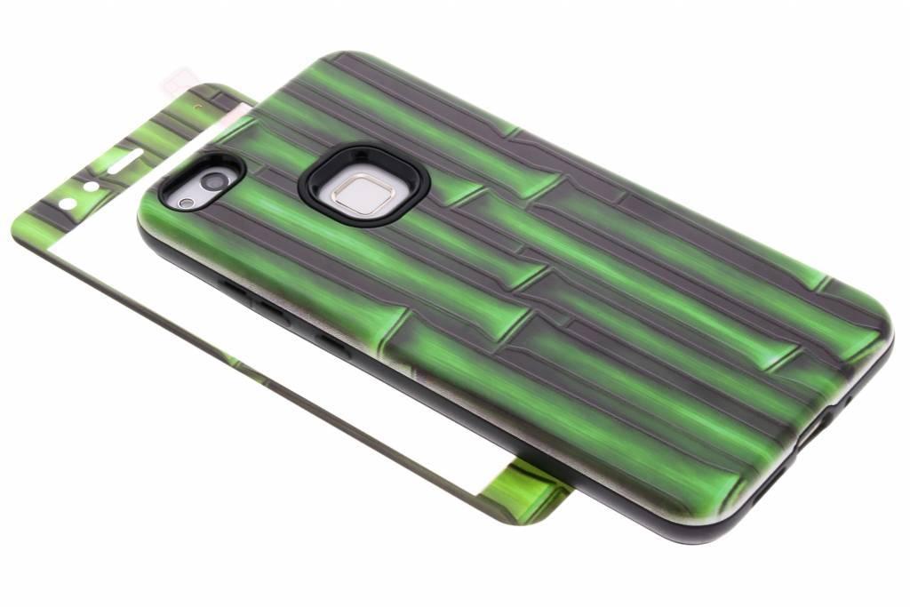 360° Bamboo design hardcase voor de Huawei P10 Lite
