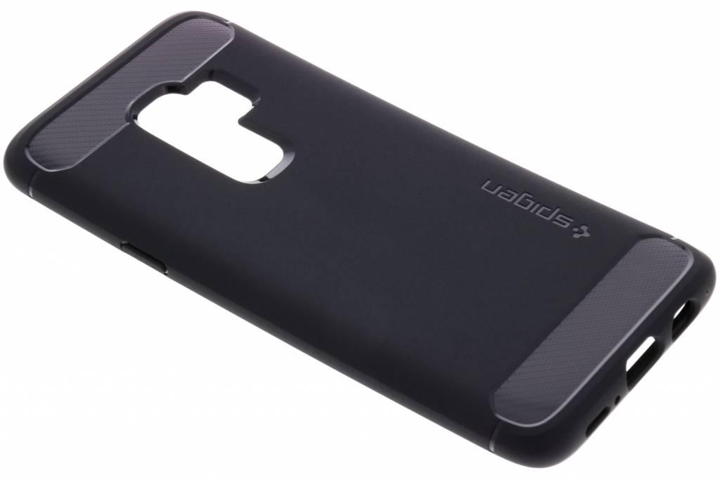 Zwarte Rugged Armor™ Case voor de Samsung Galaxy S9 Plus