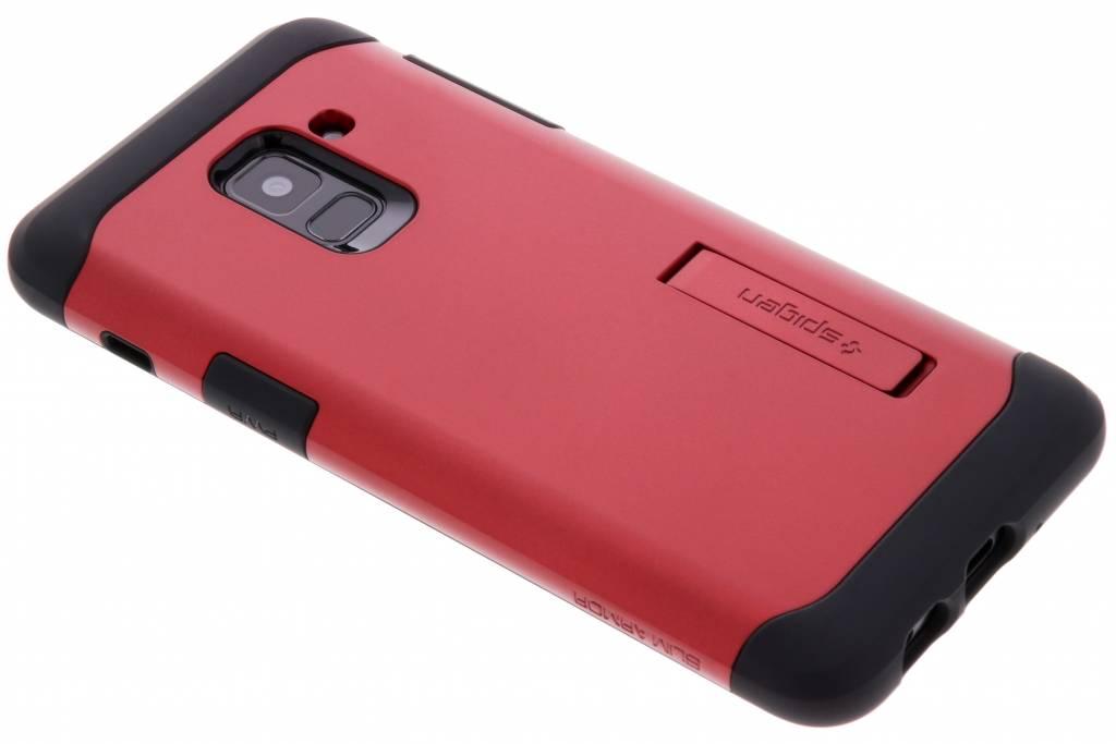 Rode Slim Armor Case voor de Samsung Galaxy A8 (2018)