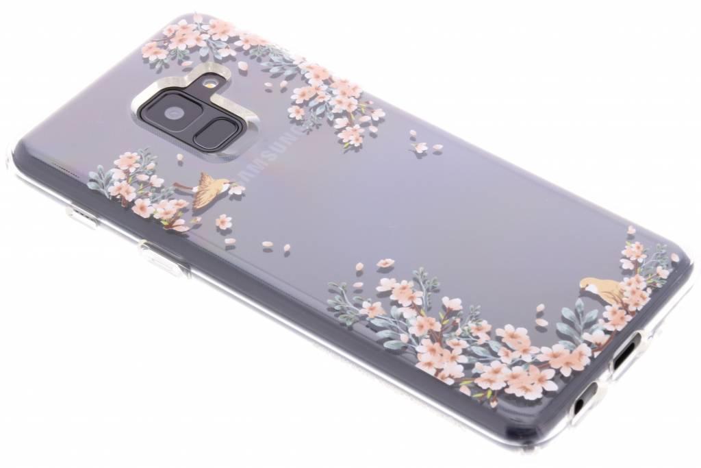 Transparante Liquid Crystal Blossom™ Case voor de Samsung Galaxy A8 (2018)
