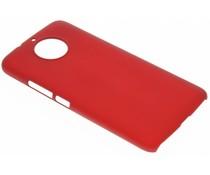Rood effen hardcase hoesje Motorola Moto G5S