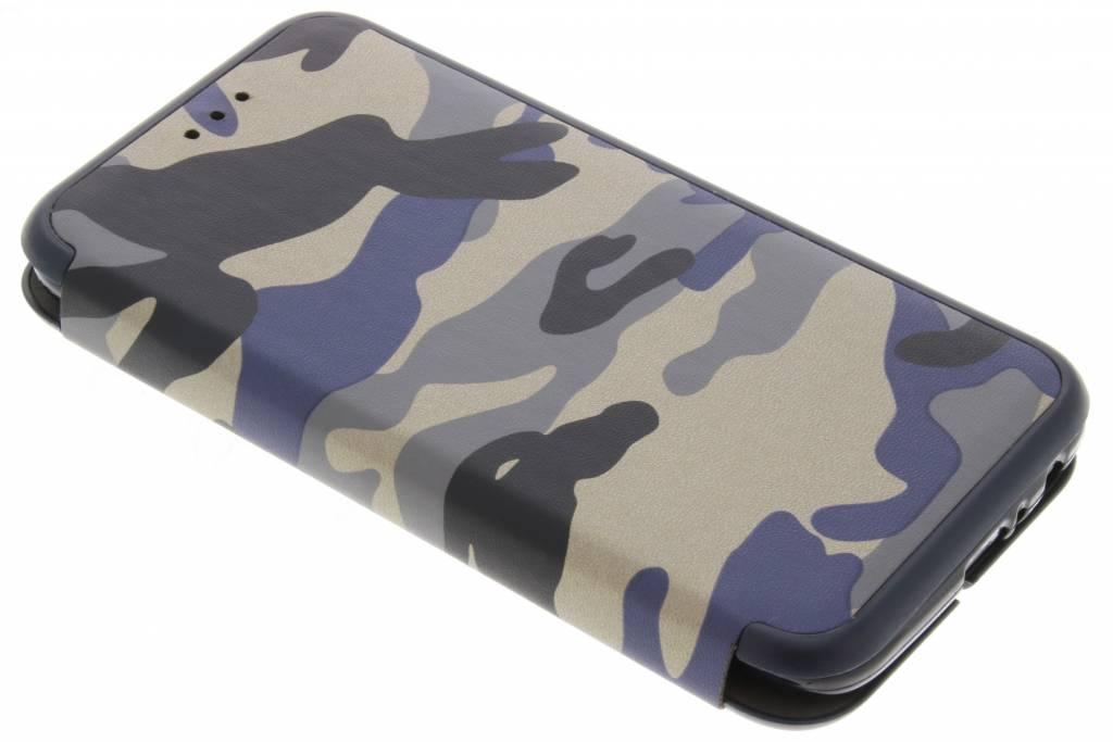 Blauwe Army Slim Folio Case voor de Motorola Moto G5 Plus