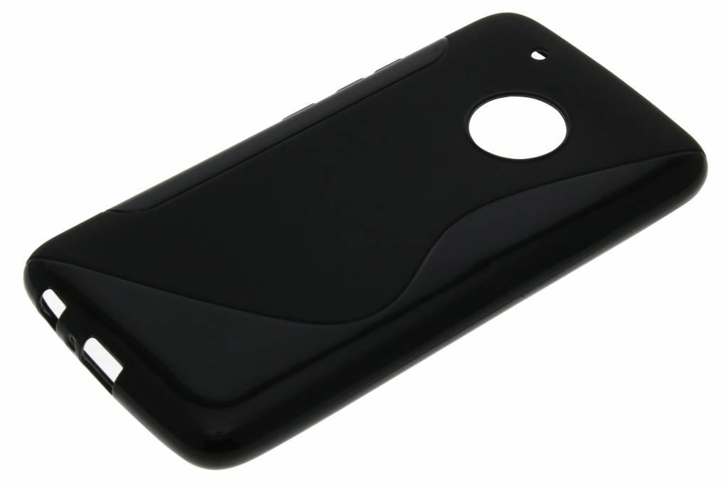 Cas De Tpu Ligne De Noir Pour Motorola Moto, Plus G5