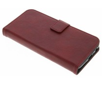 Rood luxe leder booktype hoes Motorola Moto G5 Plus