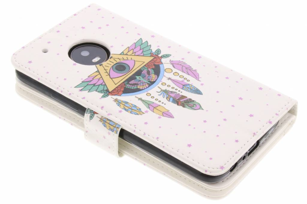 Conception Plume Booktype Tpu Case Pour Motorola Moto G5 513ZLNEi