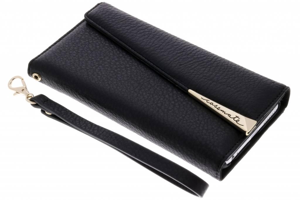 Zwarte Folio Wristlet voor de iPhone 8 Plus / 7 Plus / 6(s) Plus
