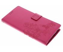 Klavertje bloemen booktype hoes Sony Xperia XA2 Ultra