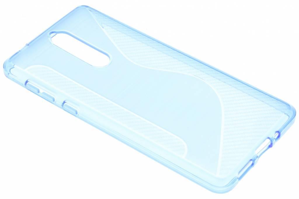 Blauw S-line TPU hoesje voor de Nokia 8