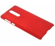 Rood effen hardcase hoesje Nokia 8