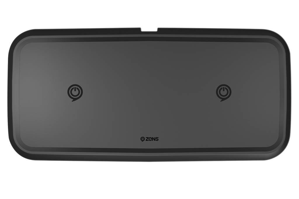 ZENS Dual Fast Draadloze Oplader 10W Zwart