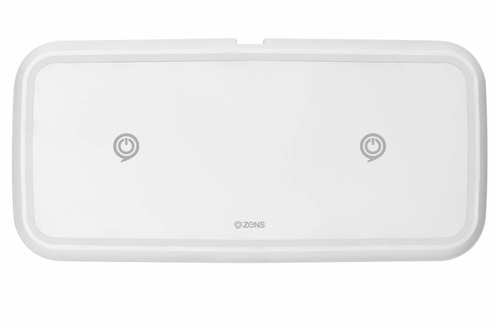 ZENS Dual Fast Draadloze Oplader 10W Wit