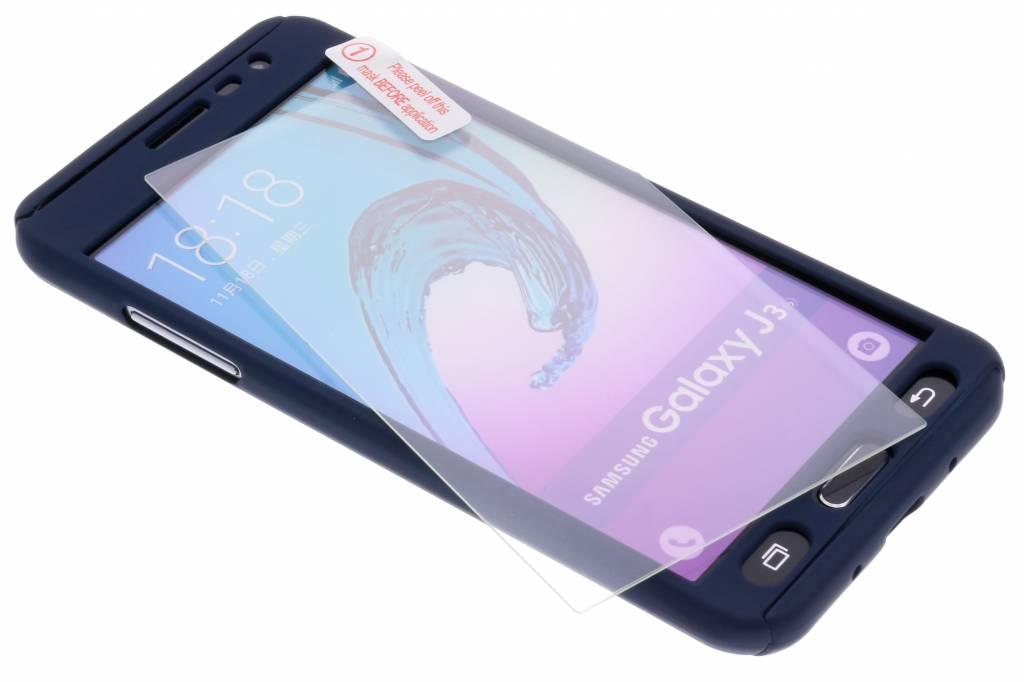 Donkerblauwe 360° effen protect case voor de Samsung Galaxy J3 / J3 (2016)