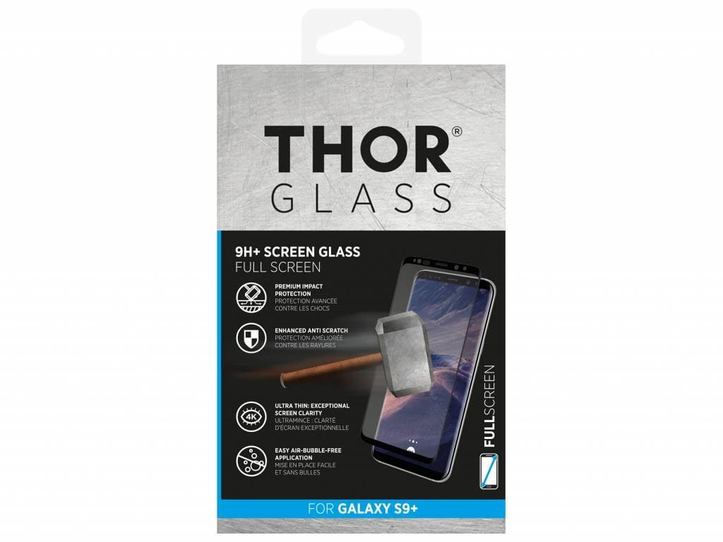 Zwarte 9H+ Full Screen Glass Screenprotector voor de Samsung Galaxy S9 Plus