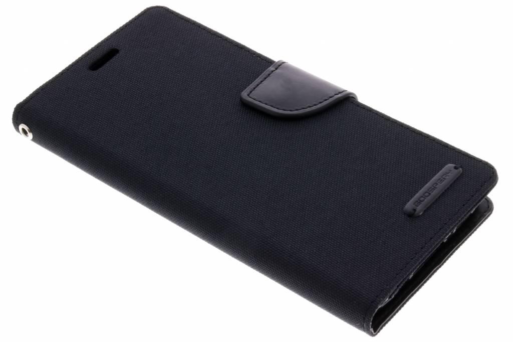 Zwarte Canvas Diary Case voor de Samsung Galaxy S9 Plus