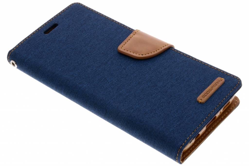 Blauwe Canvas Diary Case voor de Samsung Galaxy S9 Plus