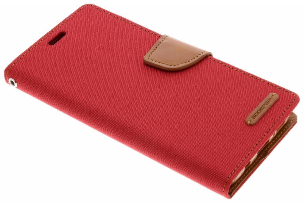 Rode Canvas Diary Case voor de Samsung Galaxy S9 Plus