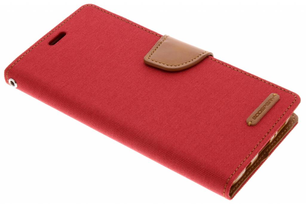 Mercury Goospery Rode Canvas Diary Case voor de Samsung Galaxy S9 Plus