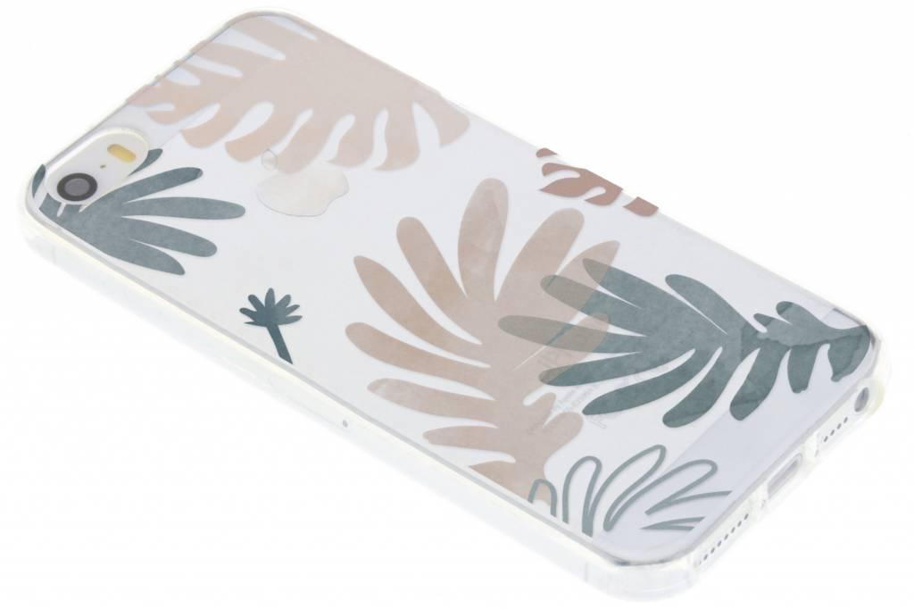 Bloemen pastel design siliconen hoesje voor de iPhone 5 / 5s / SE