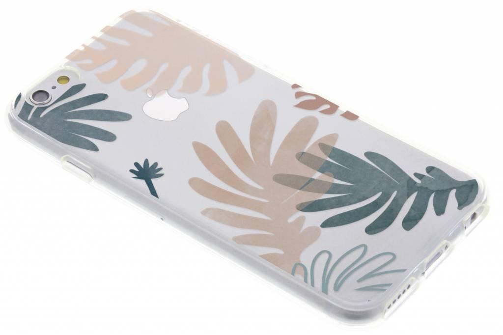 Bloemen pastel design siliconen hoesje voor de iPhone 6 / 6s