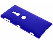Blauw effen hardcase hoesje Sony Xperia XZ2